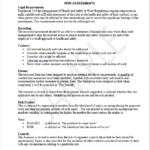 plant & lifting equipment risk assessment template