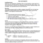 power tools risk assessment template