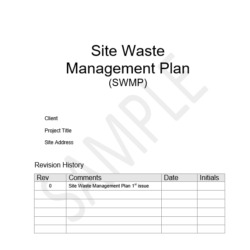 site waste management plan template