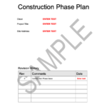 Construction Phase Plan Template